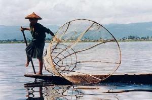 Pecheur, Lac Inle, Myanmar