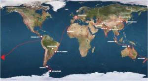 Voyageur Attitude Carte du trajet