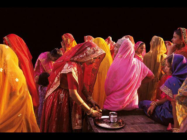 inde femmes en sari