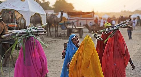 indienne en sari blog voyage