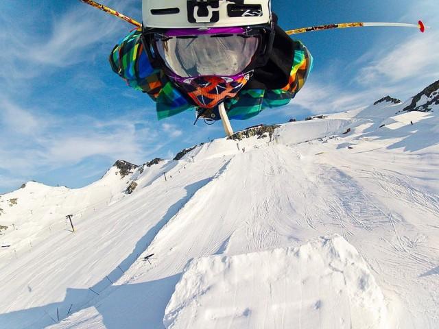 skieur volant