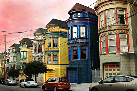 Haight Ashbury maisons San Francisco