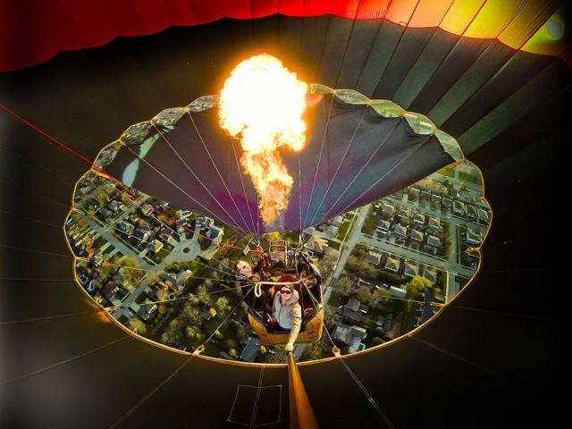 montgolfiere photo aerienne