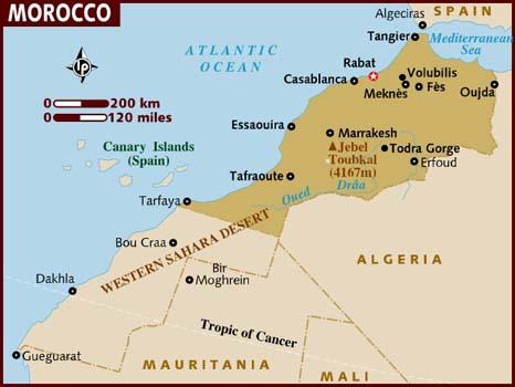 carte maroc villes