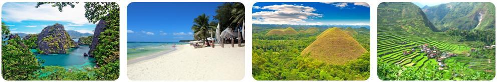 Palawan / Boracay / Bohol / Luzon... une variété de paysages !