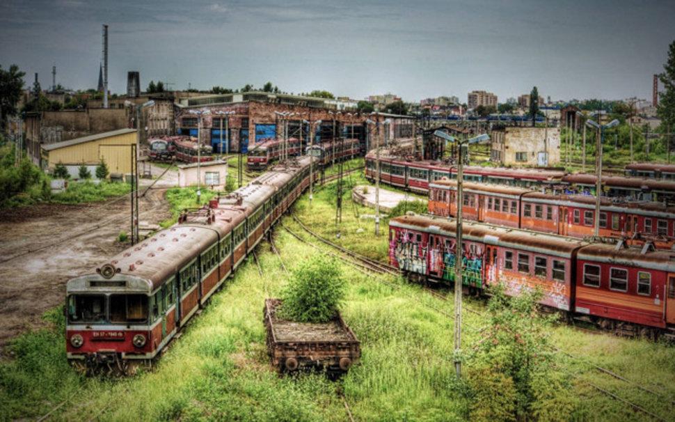 Depot de trains