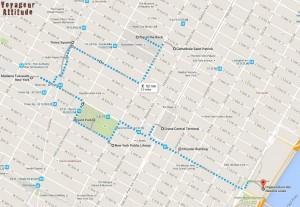 itinéraire Manhattan centre
