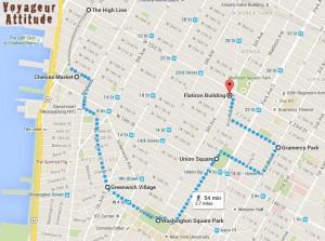 itineraire Manhattan ouest