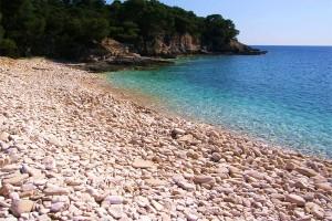 plage galets croatie
