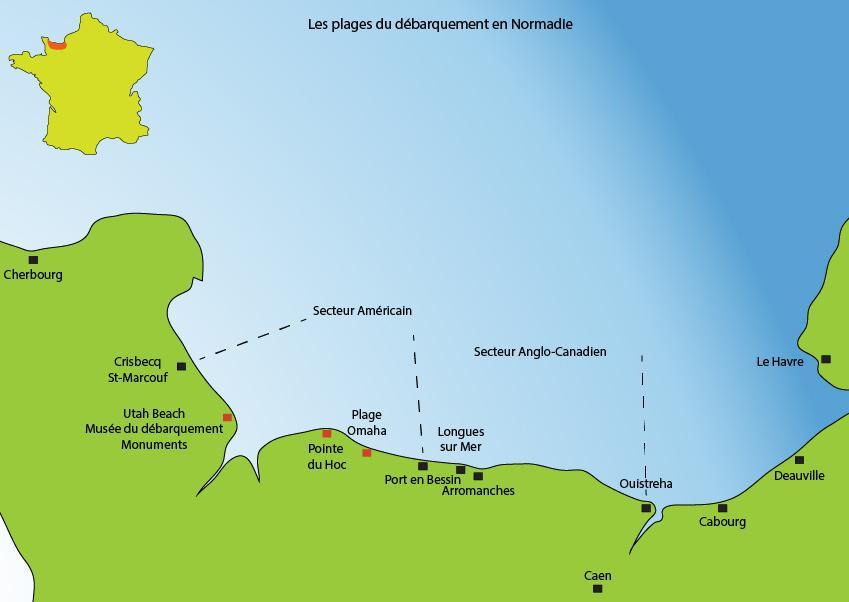 carte-plages-debarquement-normandie