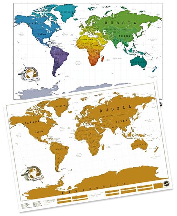 carte du monde a gratter 4 | Voyageur Attitude